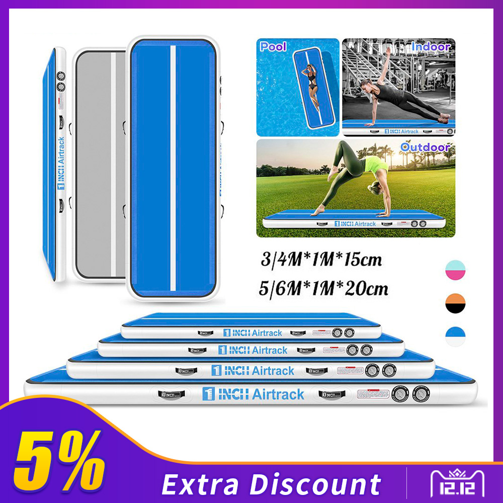 Inflatable Gymnastics Equipment Mat 4m/5m/6m Air Track Tumbling Mat For Gymnastics Yoga Mat PVC Floor Rug Mattress Gym With Air