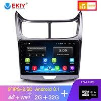 EKIY 9' IPS 2.5D Android Car Radio Full Touch Screen Car Multimedia Player For Chevrolet Sail 2015 2018 Car Gps Radio Navigation