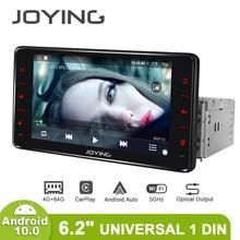 Joying Универсальный Авторадио Android 1 Din Авто Радио центральный мультимидиа ТВ цифровой GPS Carplay Bluetooth рулевое колесо