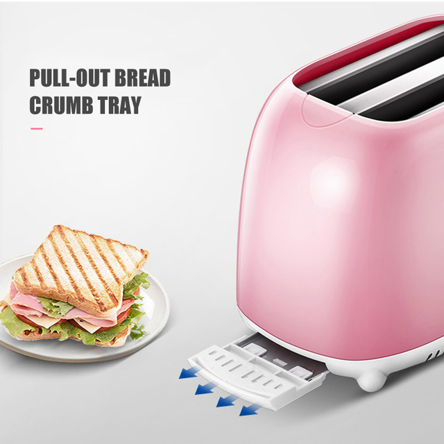 Easy to Clean Nonstick Sandwich Maker 2 Slice Wide Slot Toaster Home Automatic Breakfast Machine TN99 2