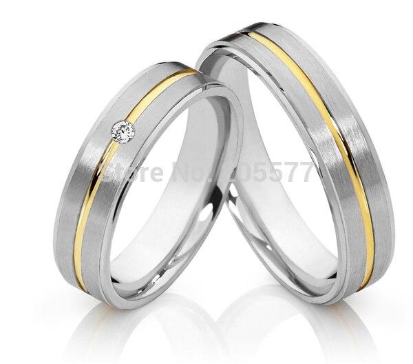 Classique plaqué or incrustation pas cher style occidental anneaux de mariage définit des bijoux pour hommes et femmes anillos plaqué or