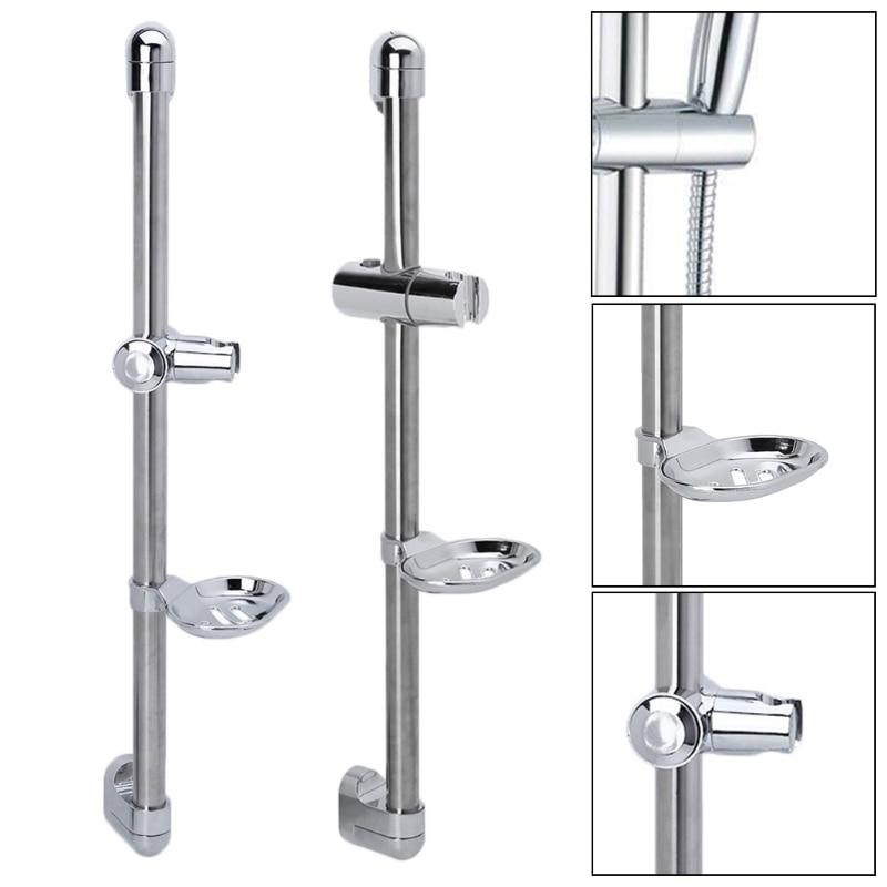 1 Set Shower Rod Soap Dish Lifter Pipe ABS Lifting Frame Adjustable Head Holder