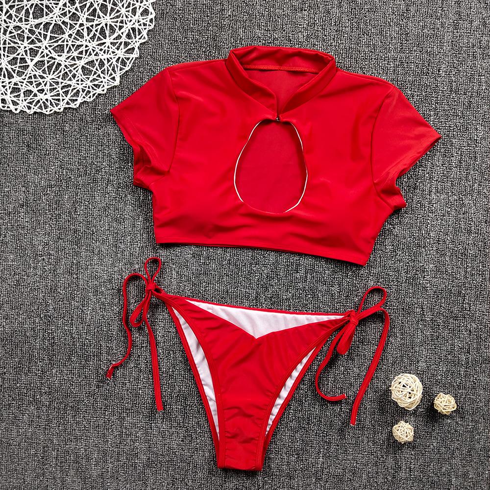 Женский комплект бикини с полосками зебры, пуш-ап, бюстгальтер с подкладкой, бандаж, купальник, высокая талия, женский купальник, стильный пл... 21