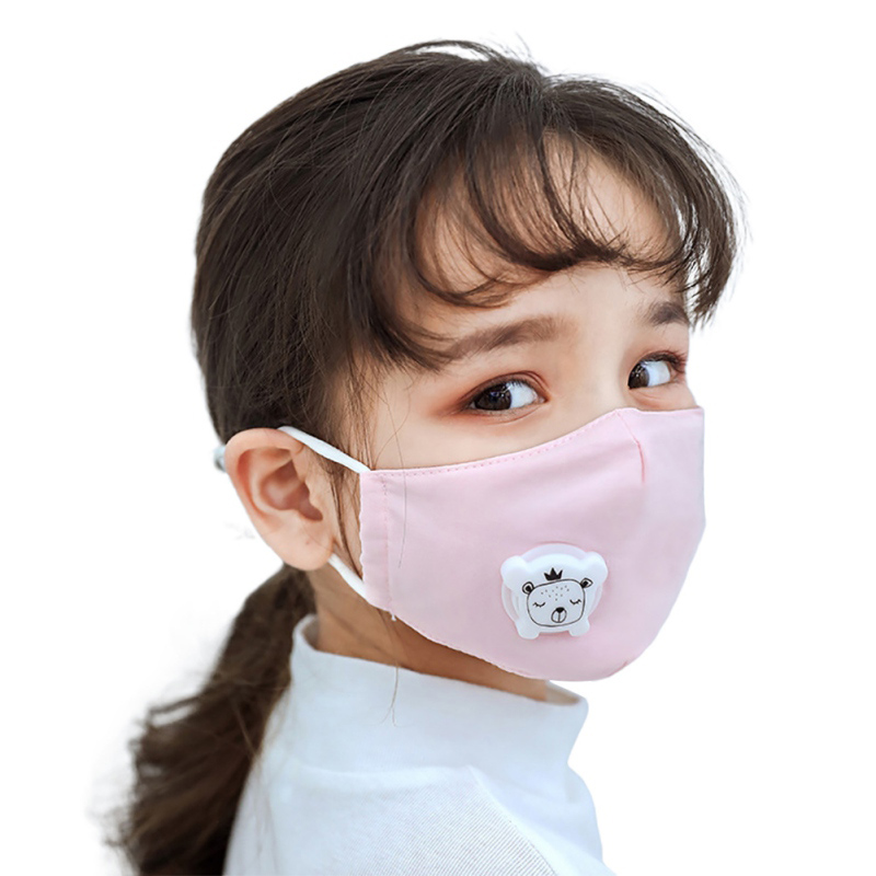 Chirldren Protective Masks PM2.5 Anti-Dust Mouth Face Mask For Kids  Fabric Masks With Respiration Tap Hot Sell
