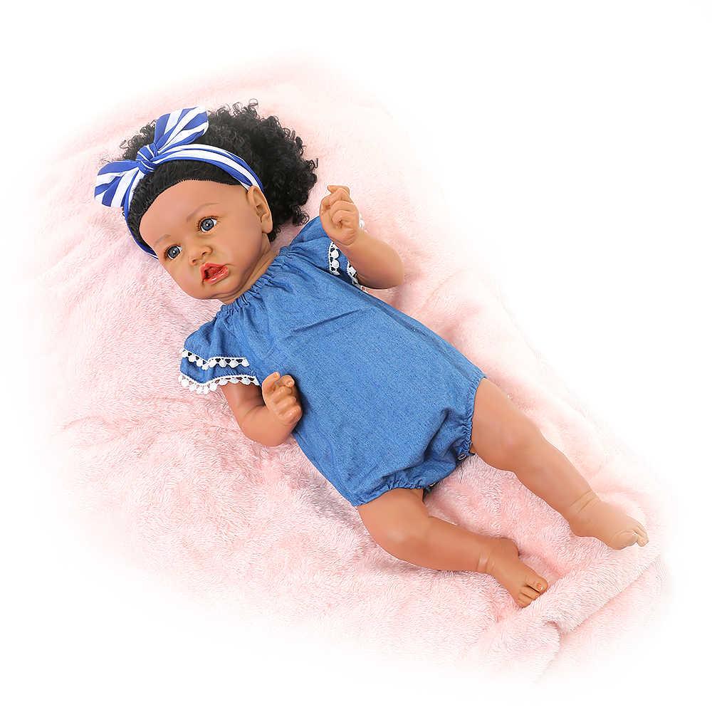 Volledige Siliconen Reborn Baby Poppen Scheve Mond Baby Realistische Alive Boneca Bebe Levensechte Echt Meisje Pop Reborn Verjaardagscadeau