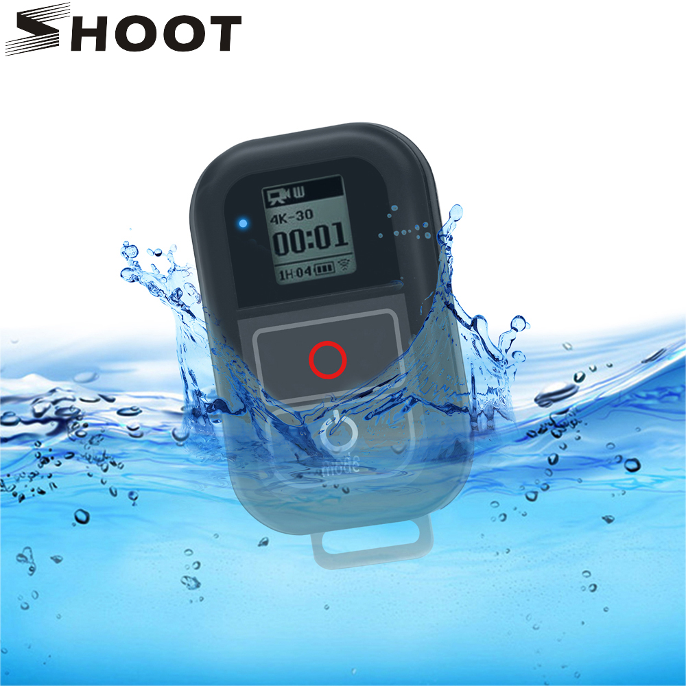 SHOOT for <font><b>GoPro</b></font> 8 7 WiFi <font><b>Remote</b></font> <font><b>Control</b></font> Mount for <font><b>GoPro</b></font> Hero 8 7 6 5 Black Waterproof Remoter for Go Pro Hero 7 6 5 Accessories image
