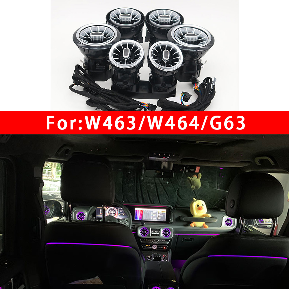 8/64Color Ambient light LED Vent For Mercedes Benz G-Class W463 W464 G63 G550 G500 Turbine shape Air outlet Nozzle Refit