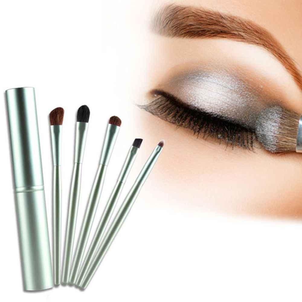 5Pcs Portable Mini Eye Makeup Brushes Set Noda Eyeshadow Eyeliner Alis Sikat Profesional Bibir Make Up Sikat Kit