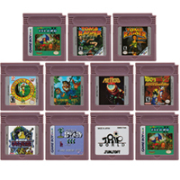 16 بت لعبة فيديو خرطوشة بطاقة وحدة التحكم لنينتندو GBC AVG مغامرة لعبة سلسلة اللغة الإنجليزية الطبعة