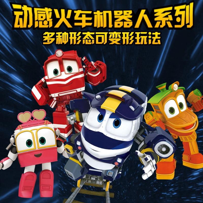Cute Dynamic Train Family Toy Transformation CHILDREN'S Toy Men's Robot Trains Dynamic Train Man