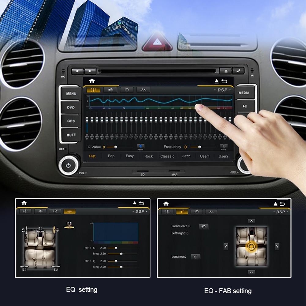 Eunavi 2 din Android 9,0 Auto Multimedia Radio-Player GPS Für VW GOLF 6 Polo Bora JETTA B6 PASSAT Tiguan SKODA OCTAVIA DSP IPS BT