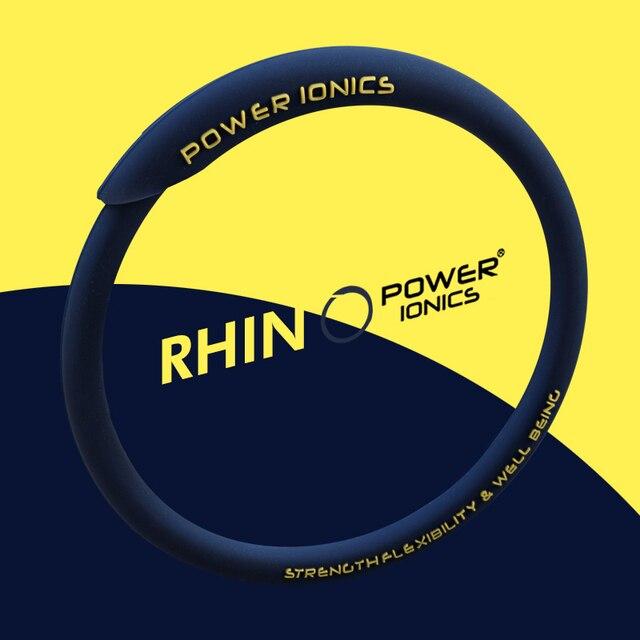 S-M//Black POWER IONICS Rhion Men Women 2002Ions Waterproof Sports Bracelets Bangles Wristband Energy Balance Body EU