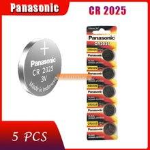 5 pçs original marca nova bateria para panasonic cr2025 3v botão pilha baterias de moeda para relógio computador cr 2025