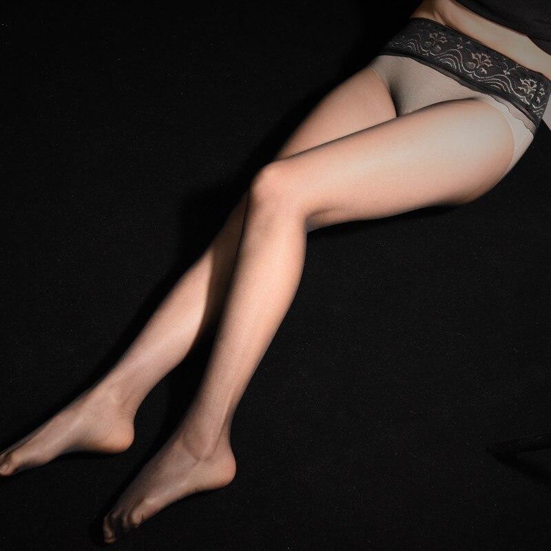 Sexy Women's Transparent Pantyhose Seamless Leggings Nylon Solid Color Thin Elastic Stretch Fashion Silicone Non-slip