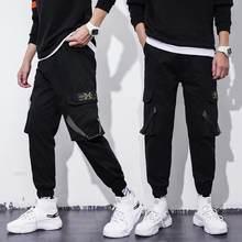 Мужские брюки для бега s мужские карго широкие с несколькими