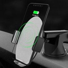 15 Вт маленькое умное автомобильное беспроводное зарядное устройство для IPhone 11 Pro Samsaung быстрая Беспроводная зарядка интеллектуальное Беспроводное зарядное устройство