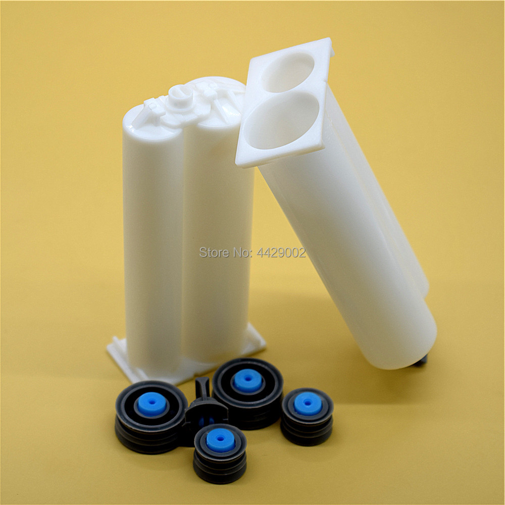 1:1 Two Part Epoxy AB Glue Resin Empty Double-Barrel Cartridge Tube 50 mL Total