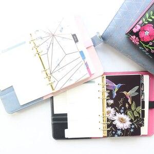 Image 3 - Domikee nette leder hardcover 6 ringe binder planer agenda organizer büro schule nachfüllbare spirale notebooks schreibwaren A5A6