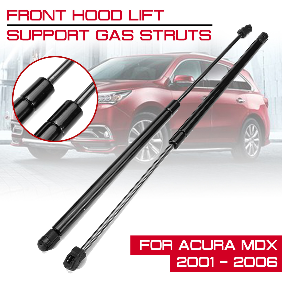 For <font><b>Acura</b></font> <font><b>MDX</b></font> 2001 <font><b>2002</b></font> 2003 2004 2005 2006 Car Front Engine Cover Bonnet Hood Shock Lift Struts Bar Support Arm Gas image