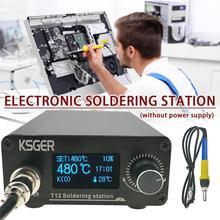 KSGER T12 V3.0 STM32 OLED Digitale Temperatur Controller Löten Station Eisen Stangen T12-K B2 BC2 D24 Elektrokauter Gerät
