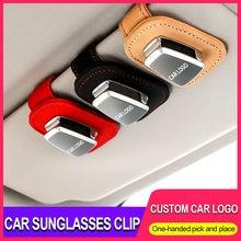 Coche portátil gafas billete tarjeta Clip parasol para coche titular de gafas de sol para Volvo xc90 xc60 s60 s40 s90 v40 c30 v60 xc40