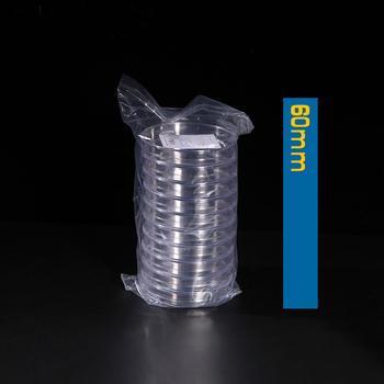20 sztuk paczka 60mm jednorazowe plastikowe naczynie petriego sprzęt laboratoryjny danie kultury tanie i dobre opinie Disposable Plastic Petri Dish polystyrene 20 pieces pack