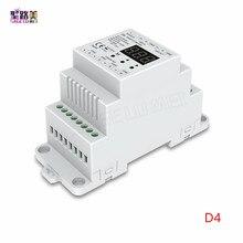 DC5V 12V 24V 36V 4CH PWM sabit voltaj/sabit akım CC CV DMX dekoder DMX512 LED denetleyici RGB RGBW LED şerit lambası