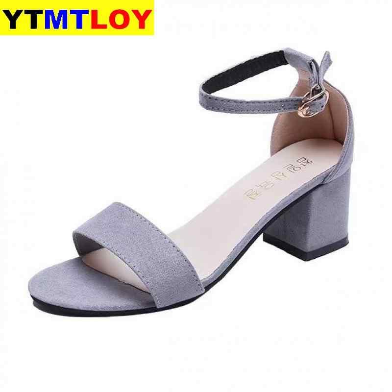Sommer Offene spitze Schuhe frauen Sandles Platz Ferse Schuhe Koreanische Stil Gladiator High Heels Sandalen Frauen Ankle Strap Schwarz rosa