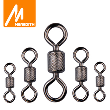 Meredith 50PCS Lot Fishing Swivels Ball Bearing Swivel with Safety Snap Solid Rings Rolling Swivel for Carp Fishing Accessories cheap CN(Origin) 1 0# 2 0# 2# 4# 6# 8# 10# 12# 14# Stainless Steel Swivels Snap Lake length-25mm tension 71kg length-21mm tension 57kg
