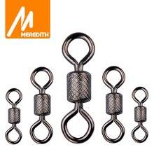 Meredith 50 pièces/lot pêche pivote roulement à billes pivotant avec sécurité Snap anneaux solides roulement pivotant pour carpe accessoires de pêche