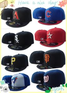 2020 New Arrival Cubs Fitted Hats Blue Jays Baseball Caps Fashion Hip Hop Size Bone for Men Women Athletics Full Closed Gorras(China)
