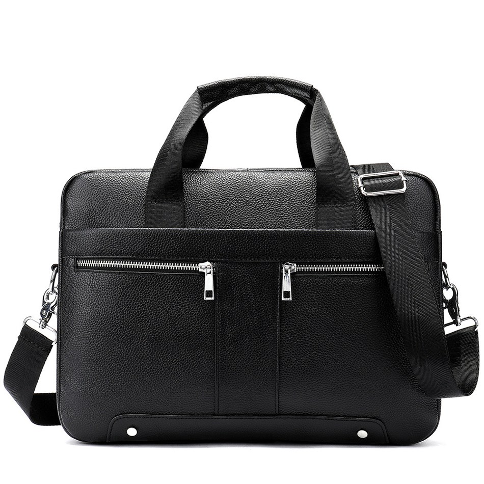 Men Briefcase Genuine Leather Bag High Quality Brand Shoulder Messenger Bags Cowhide Business Laptop Bag Leather Briefcases