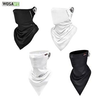 WOSAWE Integrated Motorcycles Balaclava Face Mask Bike Bicycle Hat Bandana Sport Caps Full Cover Face Shield Motocross Headwear