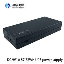 Wifi roteador ip câmera ups preço 18650 bateria de lítio fonte alimentação de backup dc em linha portátil 9v 1a mini ups