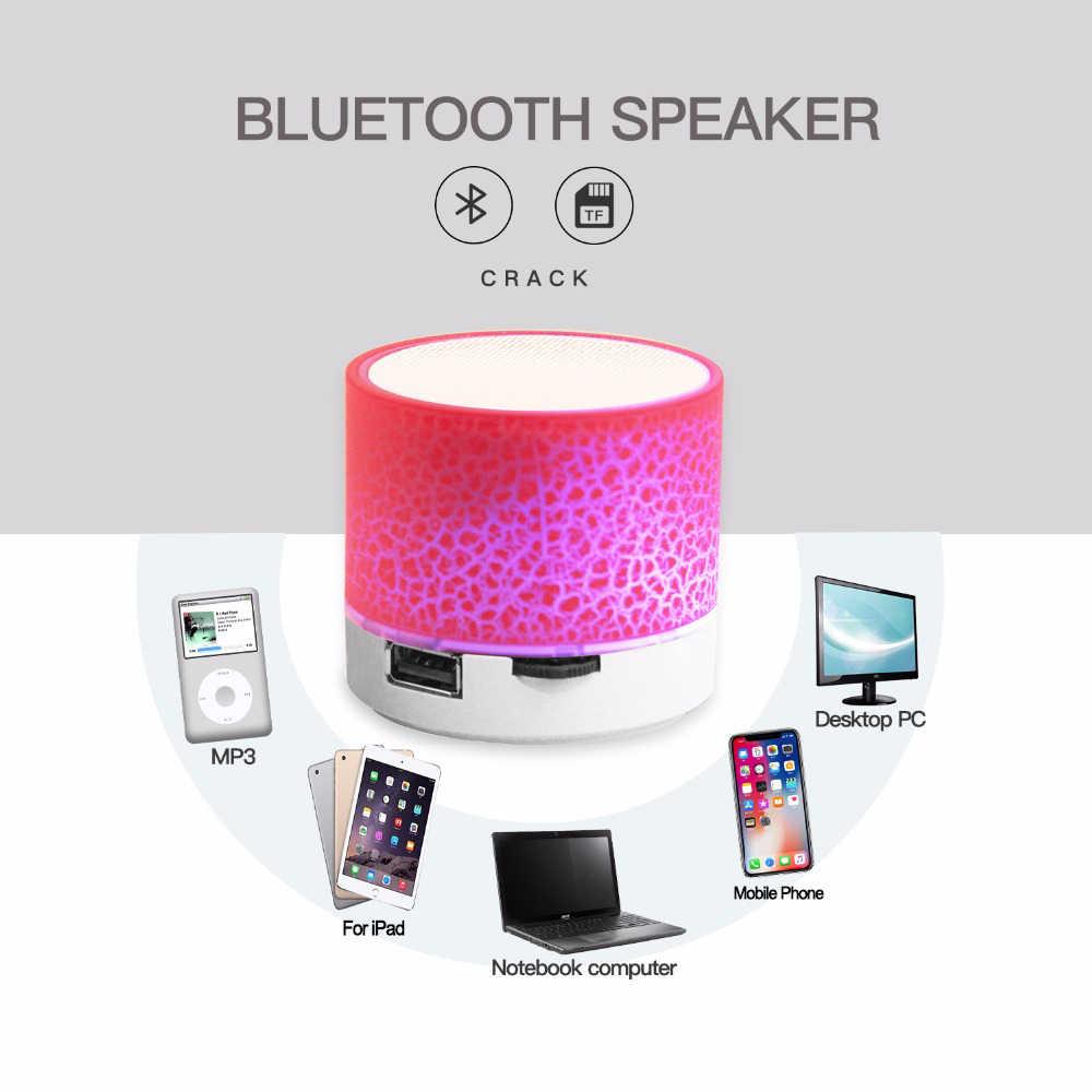 Bluetooth スピーカーミニワイヤレススピーカー亀裂 led tf カード usb サブウーファーポータブル MP3 音楽音列 pc 、携帯電話用