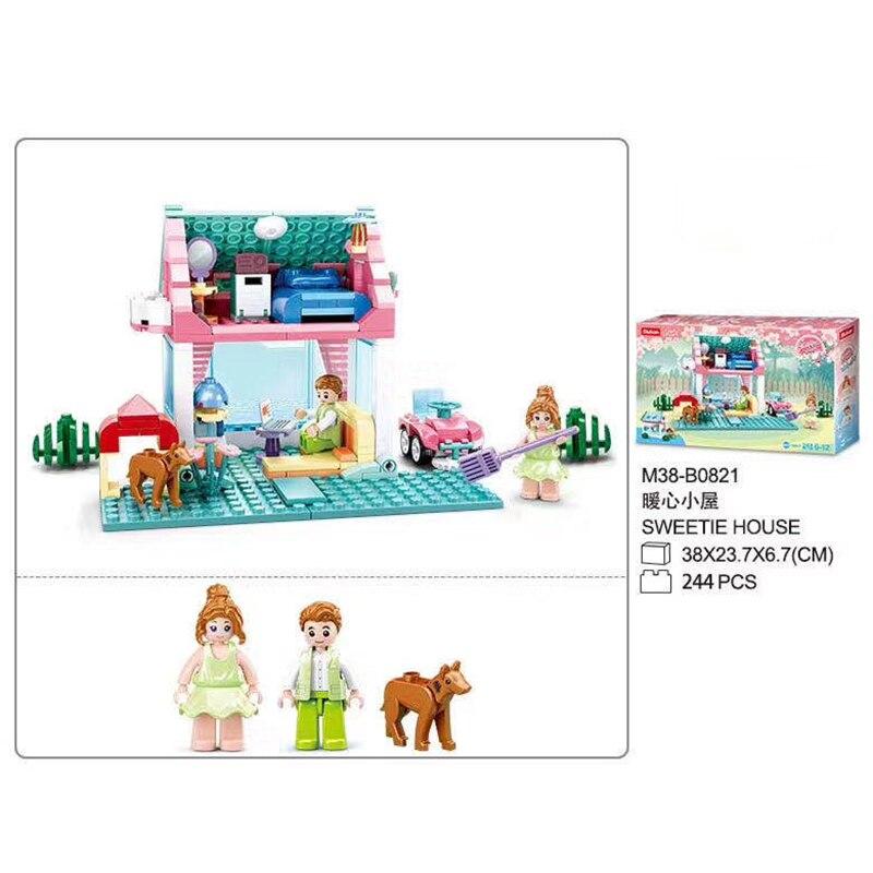 Модель Аниме Sweetie House, пазл, наборы для сборки, 3D блоки, пластиковые кирпичи, детский подарок, сувенир, игрушки «сделай сам» для девочек, подар...