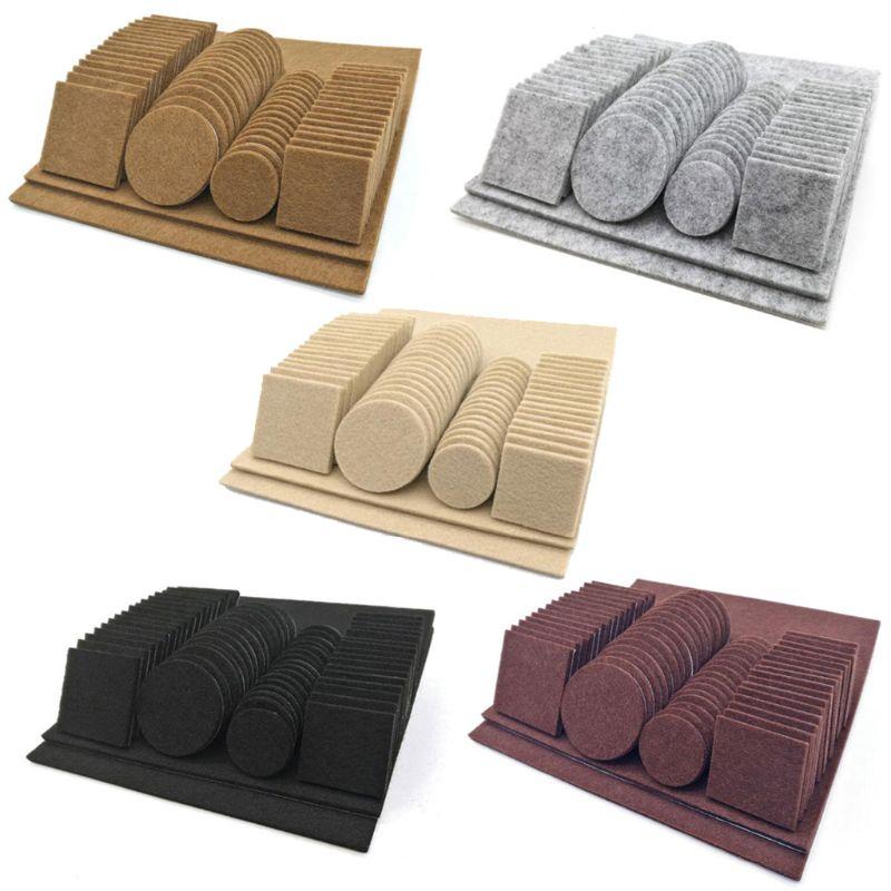 80/130pcs Furniture Chair Table Leg Self Adhesive Felt Wood Floor Protector Pads