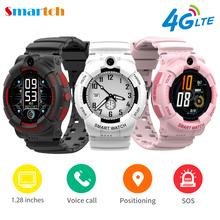 Dziecięcy Smart Watch 4G LTE na zdjęcia HD GPS SOS SIM telefon wideo otrzymać telefon zwrotny od IP67 w pełni dotykowy ekran Smartwatch dla dzieci prezent dla IOS Android tanie tanio EnohpLX CN (pochodzenie) Brak Na nadgarstek Zgodna ze wszystkimi 128 MB Wiadomości z przypomnieniami Przypomnienie o połączeniu