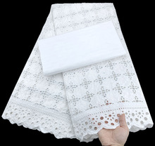 Pure White African Bazin Riche Fabric African Lace Fabric Wedding Bazin Brode 2.5+2.5Yards Cotton Swiss Lace Fabric For Dress WF liulanzhi white bazin african riche fabric cotton african embroidery jaquards riche fabric for dress ml56b08