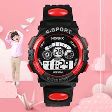 Fashion Children Watches LED Digital Quartz Watch Boy Girl Student Multifunctional Sports Electronic Wristwatches For Kids Adult(China)