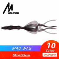 Meredith Mad Wag miękkie przynęty wędkarskie 50mm 75mm sztuczne miękkie przynęty drapieżnik silikonowe wędkarstwo miękkie Wobblers połowów przynęty