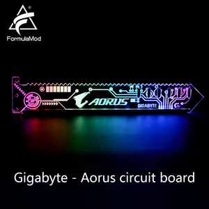 Image 5 - FormulaMod Fm QJD, RGB GPU בלוק אקריליק סוגריים, דקורטיבי צלחות GPU מחזיק, 5 v 3Pin RGB Synchronizable האם תאורה