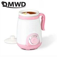 DMWD керамика суп здоровья горшок каша тушеная еда Медленная Плита мини Подогрев воды чашка Электрический чайник котел молоко нагреватель 0.4L