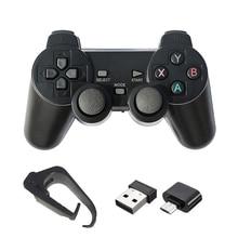 2.4G Wireless GamepadสำหรับPS3/PC/Android/TV Boxเกมรีโมทคอนโทรลสำหรับโทรศัพท์ประเภทCสนับสนุนSuperคอนโซลX