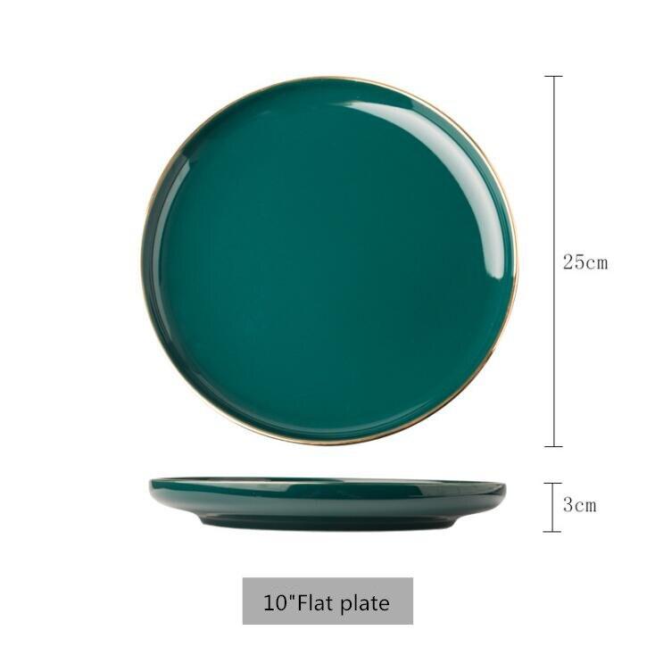 10 inch flat palte