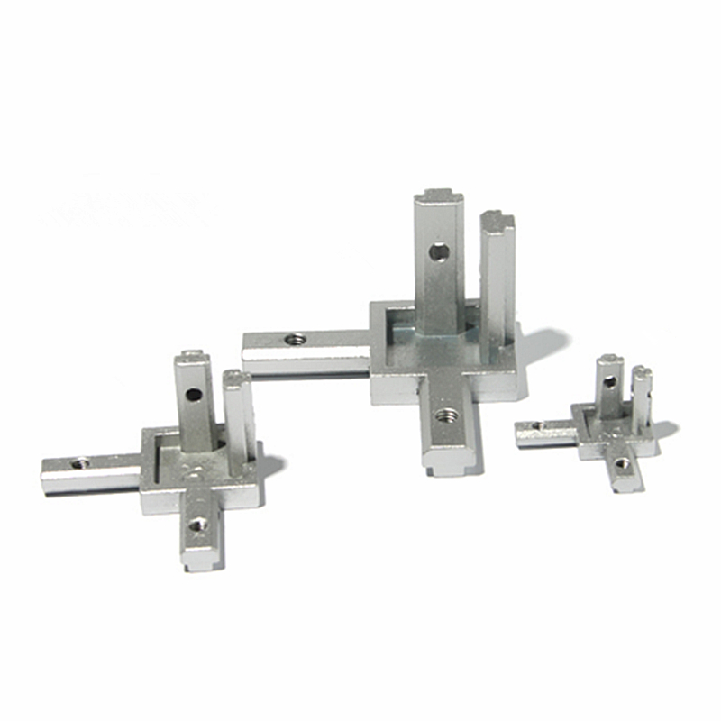 3-way corner connector L type End Bracket Match Use Aluminum Profile with screws 2020 3030 4040 image