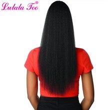 22 дюйма шнурок конский хвост наращивание волос клип синтетический афро кудрявый прямой конский хвост шиньоны с эластичной лентой гребень