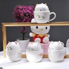 Creative Ceramic Cup Cute Cartoon Cat Coffee Milk Tea Couple Personal Girl Drinking Good Gift Cups
