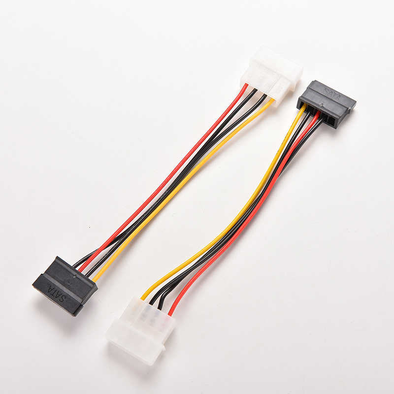 2pcs 4-Spille Molex IDE a 15-Spille Serial ATA SATA Hard Drive Power Adapter Cable