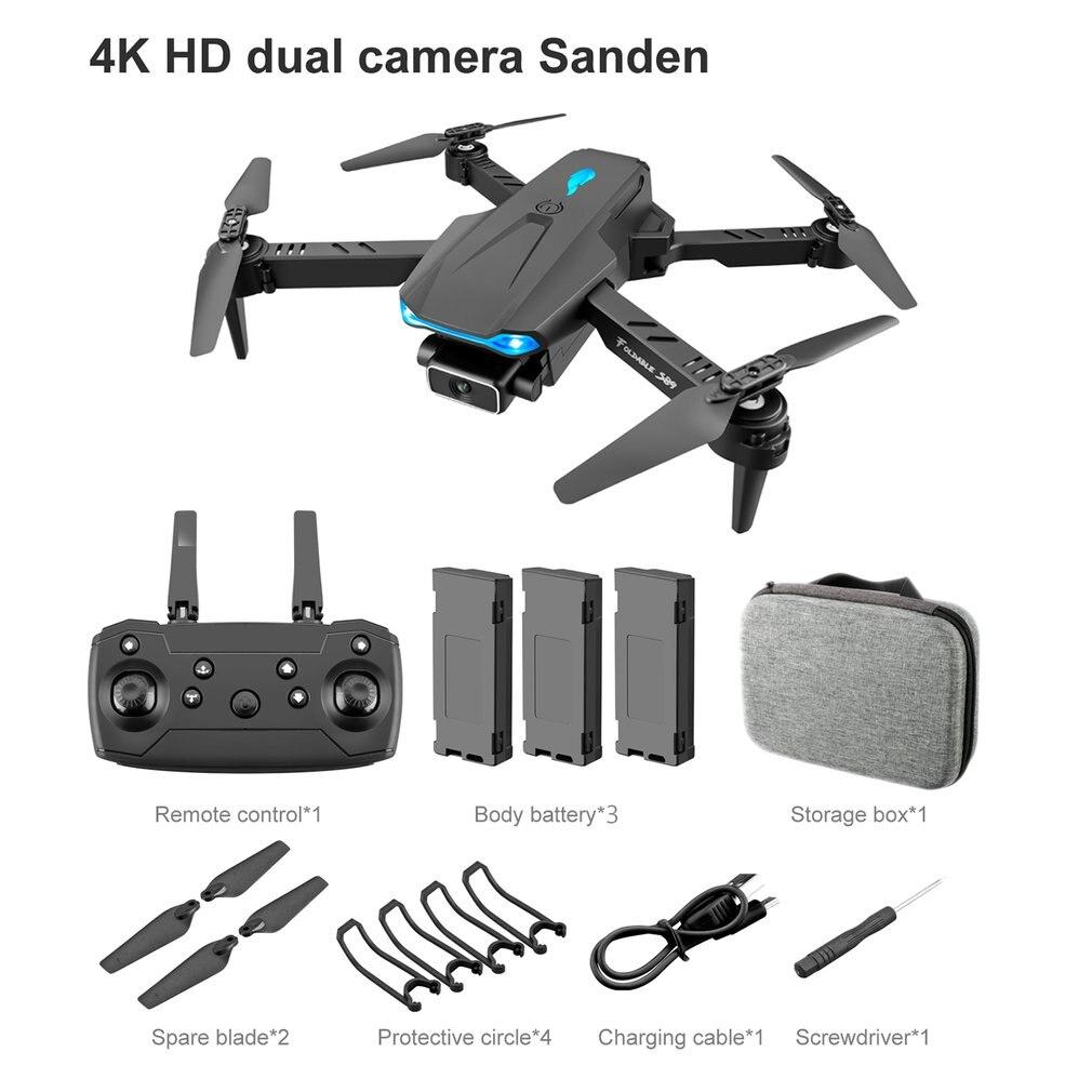 2021 novo zangão s89 4k hd câmera